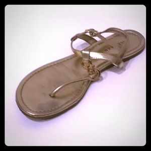 Cole Haan Gold T-strap Sandals size 7